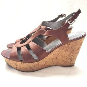 Marc Fisher leather wedge sandals